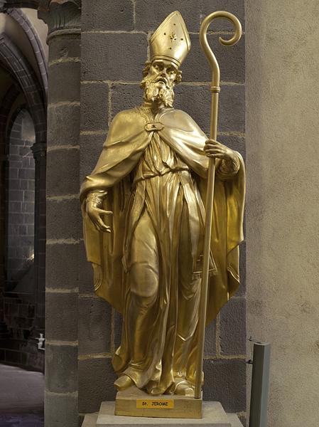 ensemble de deux statues : saint Jérôme et saint Jean Chrysostome