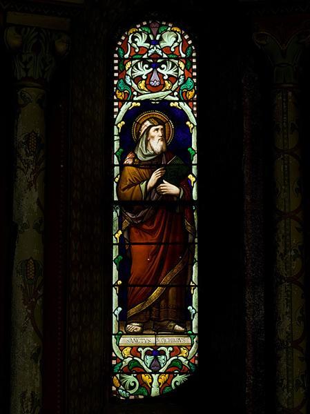 ensemble n°2 de trois verrières : saint Joachim, Immaculée Conception, sainte Anne