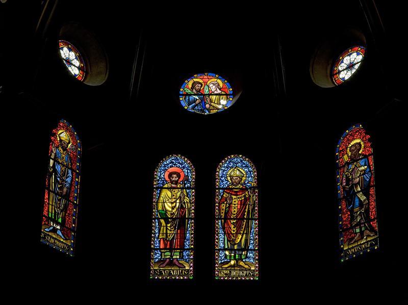 ensemble n°1 bis de 16 verrières des fenêtres hautes du choeur