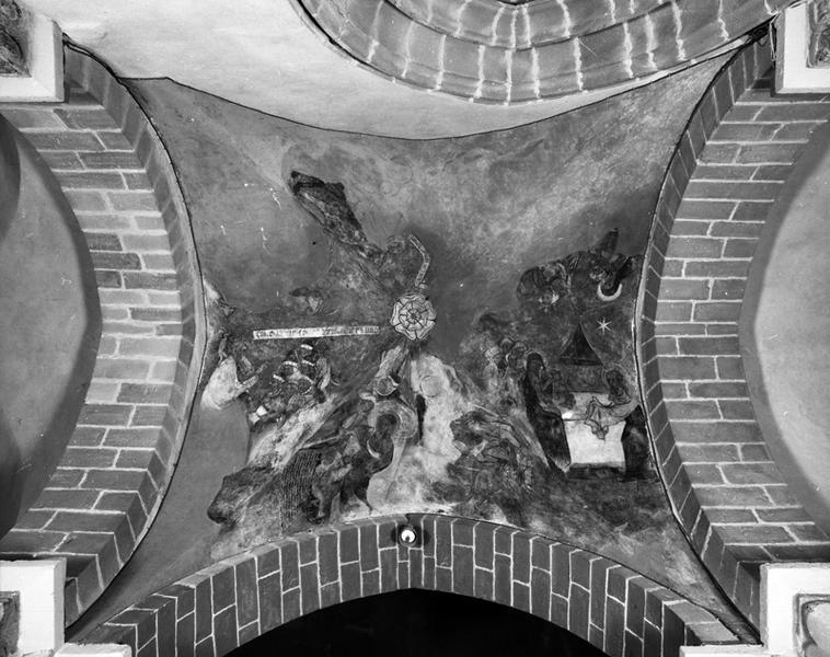 peinture monumentale : scéne du cycle de l'Enfance du Christ