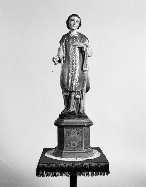 Statuette de procession : saint Amable