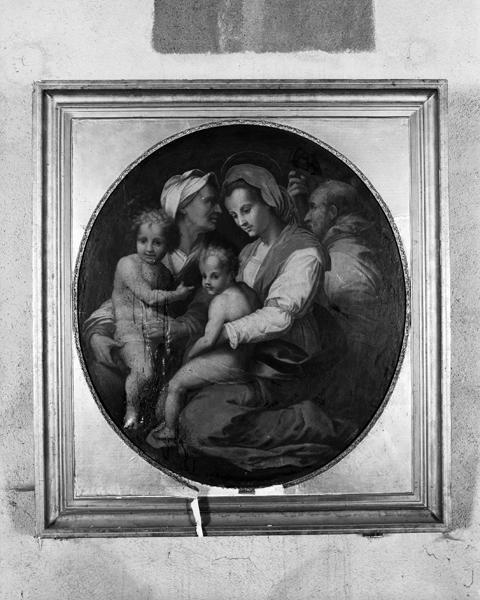 tableau : la Vierge, l'Enfant Jésus, sainte Elisabeth et le petit saint Jean