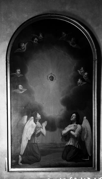 tableau : l'adoration du Sacré-Coeur