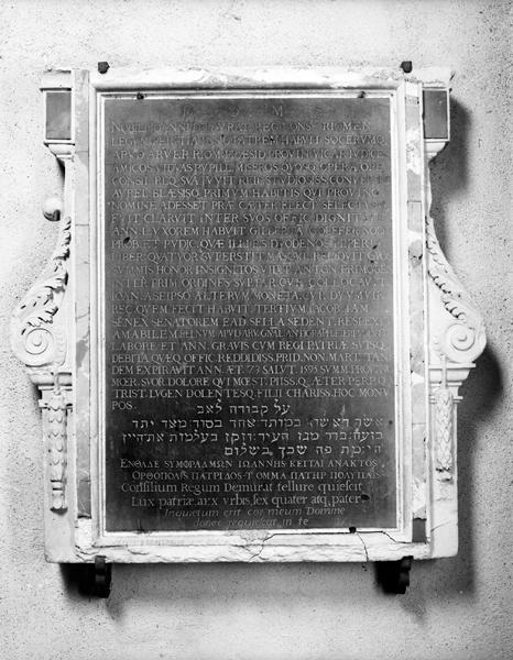 plaque funéraire de Jean de Murat