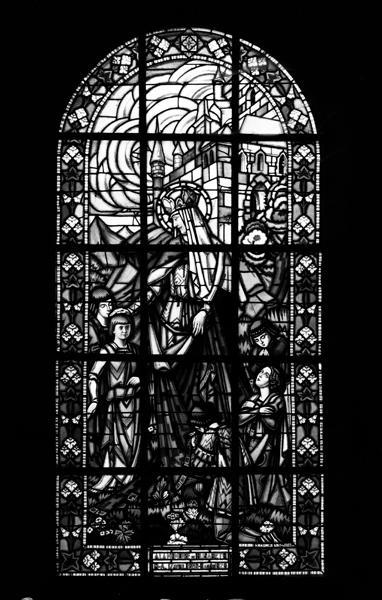 verrière (baie 36) : Sainte Elisabeth de Hongrie