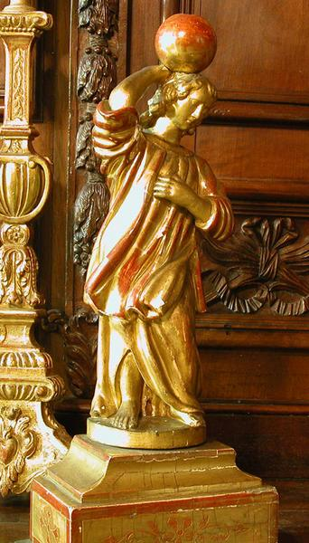 statue : ange candélabre