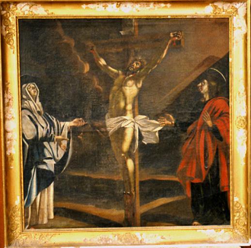 Tableau : Crucifixion avec la Vierge et saint Jean