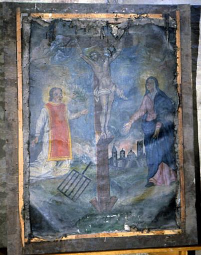 Tableau : Calvaire avec saint Vincent