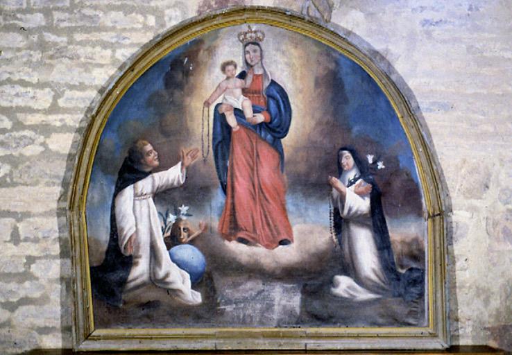 Tableau : Vierge du rosaire