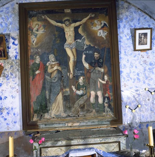 Tableau : Calvaire avec saint Roch et sainte Madeleine