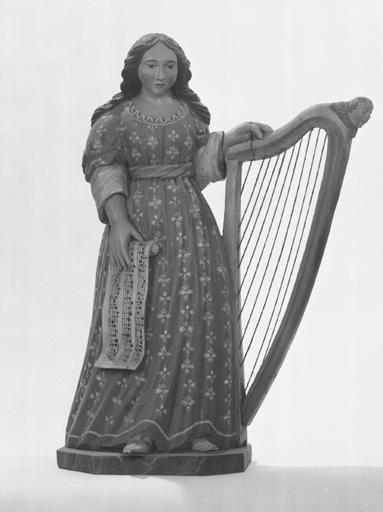 Statuette : Sainte Cécile de Rome.