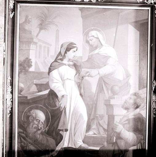 Tableau : la Visitation, saint Antoine abbé.