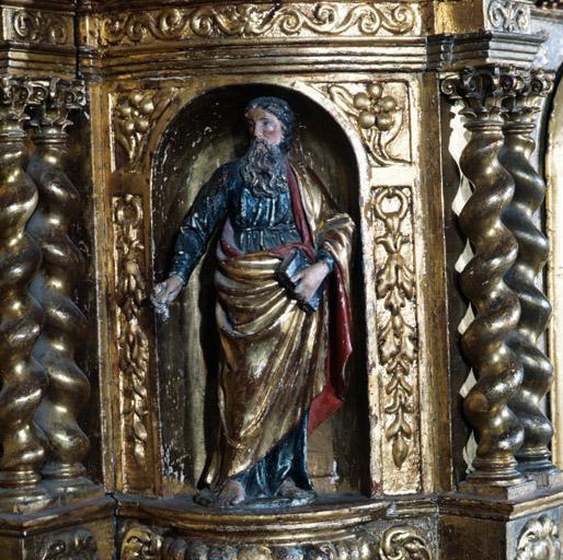2 gradins d'autel, 2 tabernacles, exposition.