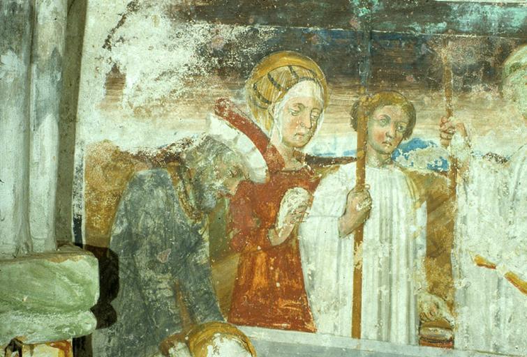 Peintures monumentales : Légende de saint Sébastien.
