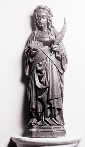 2 statues (petites natures) : Sainte Barbe, Sainte Luce.