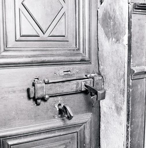 Vantail, serrure, clef