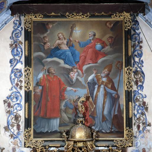 Tableau (tableau d'autel) : Saint Chaffrey, saint Arnoul de Gap.