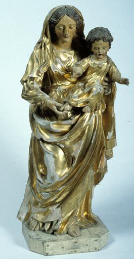 Statue (petite nature) : Vierge à l'Enfant.