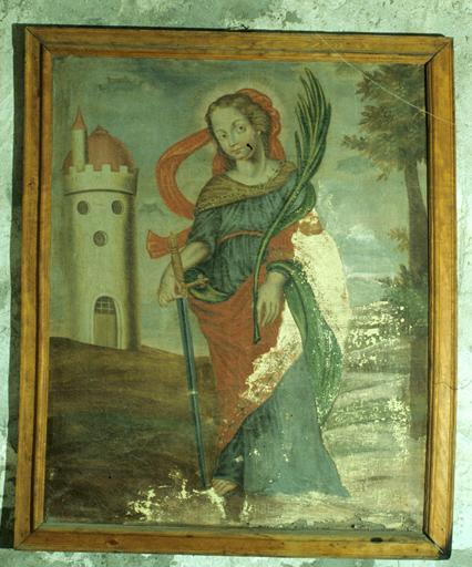 Tableau : Sainte Barbe.