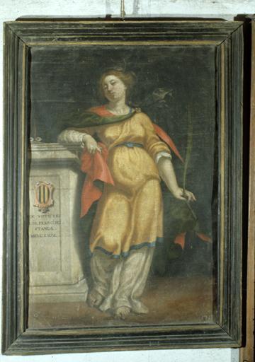Ex-voto, tableau : Sainte Luce.