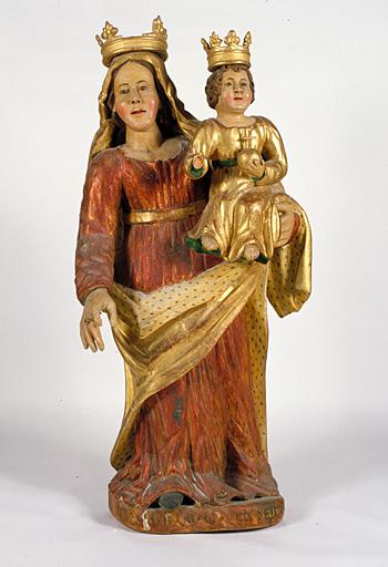 Statue (petite nature) : Vierge à l'Enfant (3)