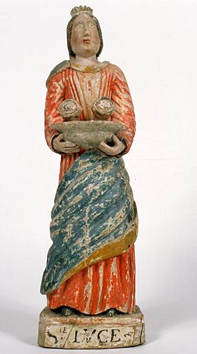 Statuette : sainte Lucie de Syracuse