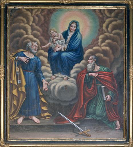 Tableau (tableau d'autel) : Notre-Dame, saint Pierre et saint Paul