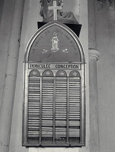 Tableau de congrégation