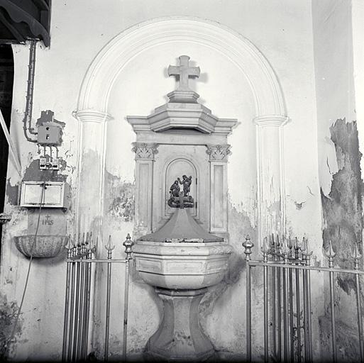 Fonts baptismaux (au sol, d'applique)