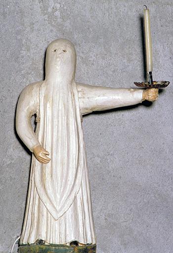 2 statuettes (en pendant) : pénitent blanc
