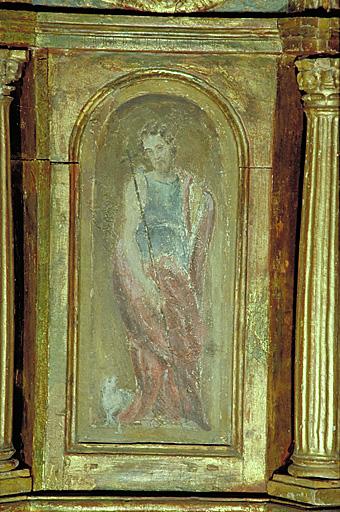 Retable, 3 tabernacles, 2 gradins d'autel, 6 statues : du maître-autel