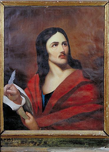 Tableau : portrait d'un homme écrivant