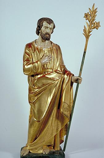 Statue (petite nature) : saint Joseph
