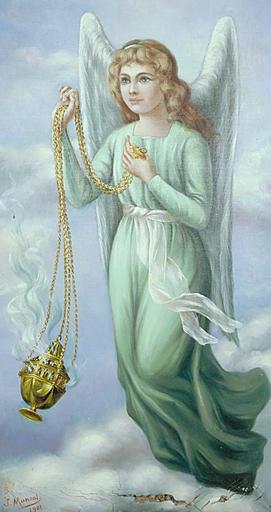 tableaux (2, en pendant) : ange