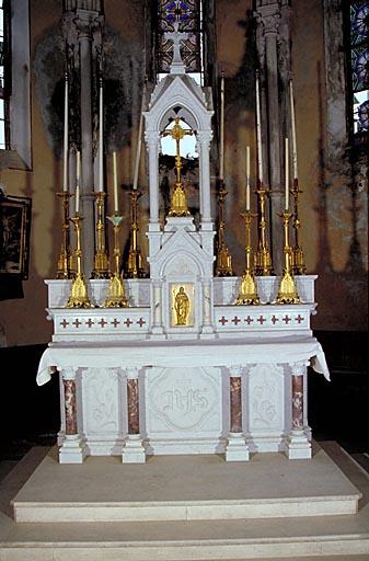 Autel, 2 gradins d'autel, tabernacle, exposition (maître-autel, autel tombeau)