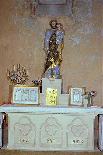 Autel (2, en pendant) : des autels de la Vierge et de saint Joseph