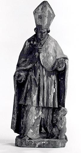 Groupe sculpté (statuette) : Saint Claude.