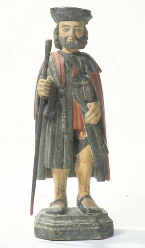 Statuette : Saint Roch de Montpellier.