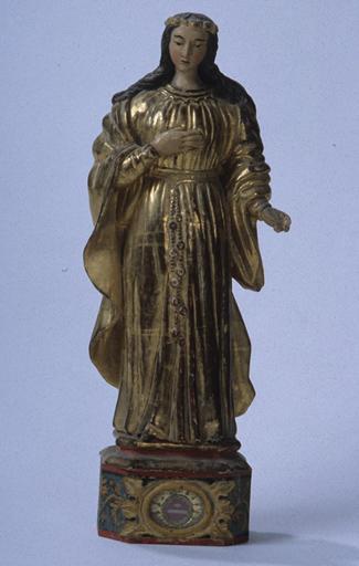 Statuette-reliquaire : Sainte Philomène.