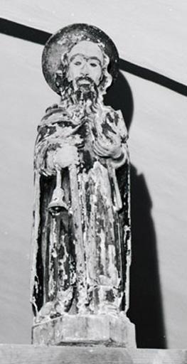 Ensemble de 2 statuettes : Sainte Lucie, Saint Antoine abbé