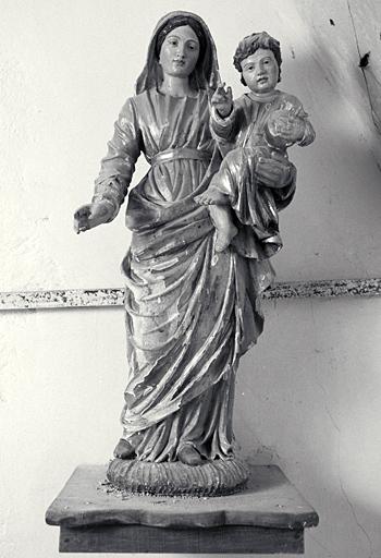 Statue (demi-nature) : Vierge à l'Enfant