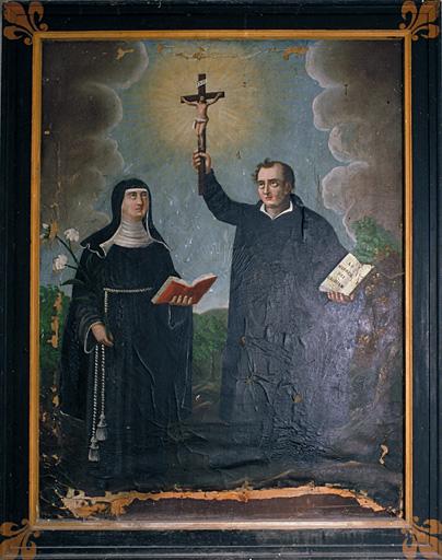 Tableau (tableau d'autel) : sainte Brigitte de Suède et saint Ignace de Loyola