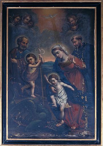 Tableau (tableau d'autel) : la Vierge, l'enfant et saint Jean-Baptiste terrassant le démon
