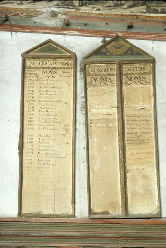 2 tableaux de la confrérie du Gonfalon des Guibertes.