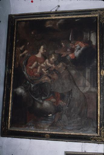 Tableau : Apparition de la Vierge et de l'Enfant à saint Antoine de Padoue.