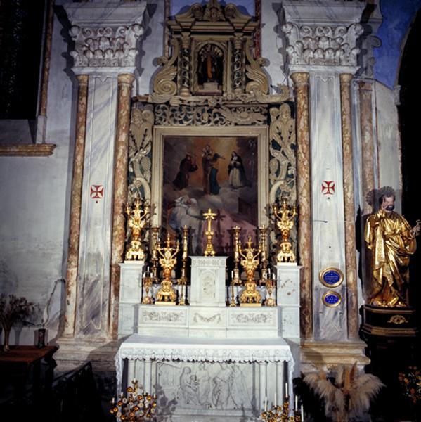 Retable (4), retable de l'autel de saint Joseph