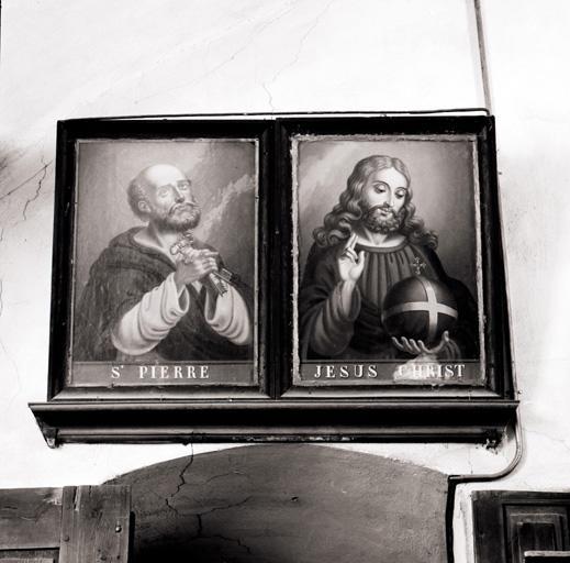 14 tableaux (série) : Les Apôtres, le Christ, la Vierge.