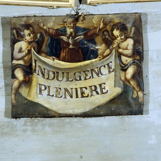 Tableau : Dieu le Père et Saint-Esprit, Indulgence plénière.