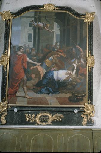 Tableau (tableau du maître-autel) : Le Martyre de sainte Agathe.