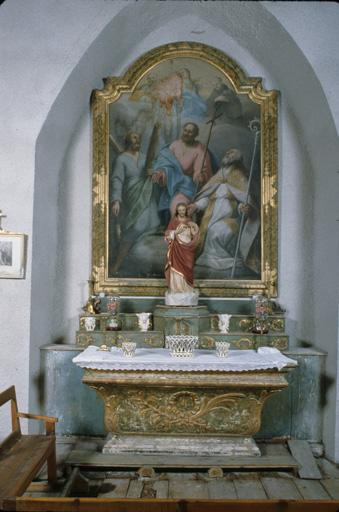 Ensemble de deux autels latéraux